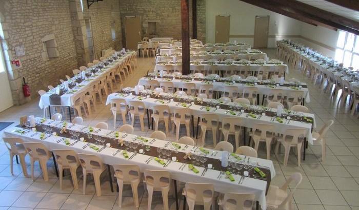 Tables pour 190 convives